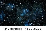 starry outer space background... | Shutterstock . vector #468665288