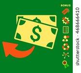 cashback icon with bonus... | Shutterstock .eps vector #468666410