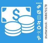 cash icon with bonus pictograms.... | Shutterstock .eps vector #468670178