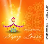 beautiful greeting card for... | Shutterstock .eps vector #468671684