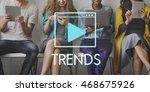 media audio player blog concept   Shutterstock . vector #468675926