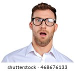 nerd businessman in glasses | Shutterstock . vector #468676133