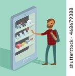 concept of e commerce online... | Shutterstock .eps vector #468679388