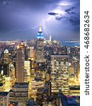 New York City With Lightning...