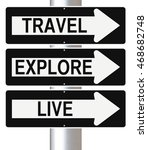 conceptual road sign on... | Shutterstock . vector #468682748