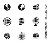globe vector icons. simple... | Shutterstock .eps vector #468682769