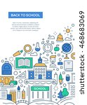 back to school   vector line... | Shutterstock .eps vector #468683069