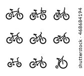 bicycle vector icons. simple...