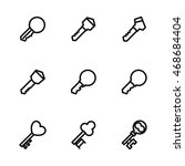 key vector icons. simple...