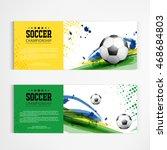 soccer tournament modern sport... | Shutterstock .eps vector #468684803