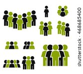 people icon set | Shutterstock .eps vector #468685400