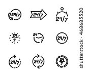 24 7 vector icons. simple... | Shutterstock .eps vector #468685520