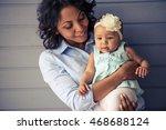 portrait of beautiful young...   Shutterstock . vector #468688124