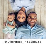 top view of beautiful young... | Shutterstock . vector #468688166