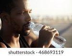 attractive young dark skinned...   Shutterstock . vector #468693119