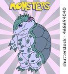 cute monster vector illustration   Shutterstock .eps vector #468694040
