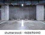 empty parking garage... | Shutterstock . vector #468696440