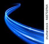 vector neon blue glitter wave... | Shutterstock .eps vector #468703964
