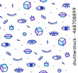 seamless pattern in the style... | Shutterstock .eps vector #468708899