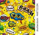 comic speech bubbles seamless... | Shutterstock .eps vector #468711134