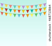 celebrate flags | Shutterstock .eps vector #468713864