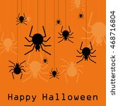 halloween card. vector... | Shutterstock .eps vector #468716804