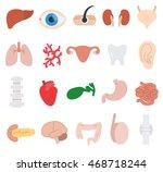 human anatomy icons set.... | Shutterstock .eps vector #468718244