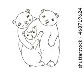 fairy tales bears family | Shutterstock .eps vector #468719624