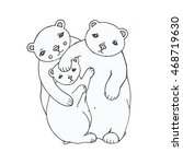 fairy tales white bears family | Shutterstock .eps vector #468719630