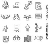 job search icons set. human... | Shutterstock .eps vector #468720398