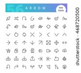 set of 56 arrow line icons... | Shutterstock .eps vector #468720500