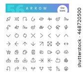 set of 56 arrow line icons... | Shutterstock .eps vector #468720500