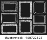 frames doodle vector. set of 8... | Shutterstock .eps vector #468722528