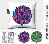 design vector pillow  cushion . ... | Shutterstock .eps vector #468724130