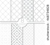 set of eight seamless patterns. ... | Shutterstock .eps vector #468734828