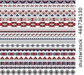vector tribal mexican seamless... | Shutterstock .eps vector #468736130