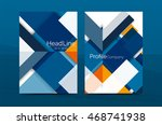 color business brochure cover... | Shutterstock .eps vector #468741938
