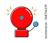 Red Ringing Alarm Bell In Retro ...