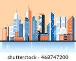 city downtown landscape.... | Shutterstock .eps vector #468747200