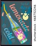 lemonade bottle glass   Shutterstock .eps vector #468752246