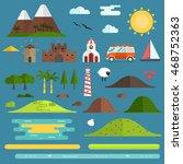 travel island constructor. hill ...   Shutterstock .eps vector #468752363