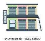 modern flat commercial building ...   Shutterstock .eps vector #468753500