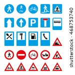 set of road signs. vector image | Shutterstock .eps vector #468753740