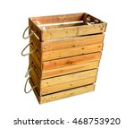 empty wooden box. isolated on... | Shutterstock . vector #468753920