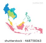 map of southeast asia | Shutterstock .eps vector #468758363