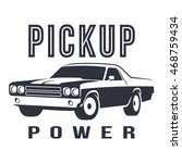 pickup muscle car black logo | Shutterstock .eps vector #468759434