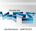 abstract perspective vector | Shutterstock .eps vector #46876123