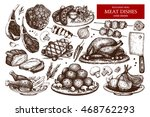 vector collection of hand drawn ... | Shutterstock .eps vector #468762293