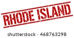 rhode island stamp. red square... | Shutterstock .eps vector #468763298