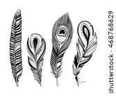 Vector Feathers  Hand Drawn...
